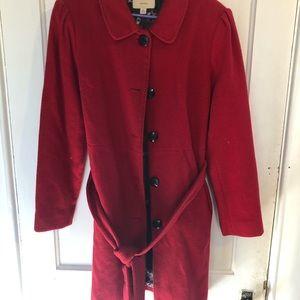 Women's red dress coat